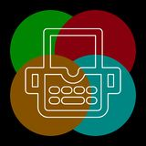 Typewriter machine icon - type letter machine royalty free illustration