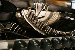 The typewriter mechanism Royalty Free Stock Images