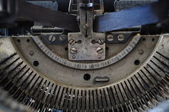 Typewriter mechanism royalty free stock image
