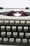 Typewriter message Stock Photo