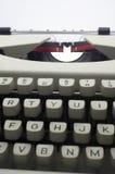 Typewriter message Stock Photo