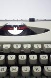 Typewriter message Stock Image