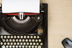 Typewriter and mouse Royalty Free Stock Image
