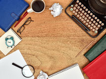 Typewriter and a notebook Stock Image