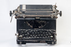 Typewriter. Old black typewriter Royalty Free Stock Photos