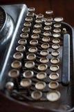 Typewriter. Old Black Typewriter, retro style Royalty Free Stock Photos