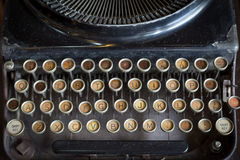Typewriter. Old Black Typewriter, retro style Stock Images