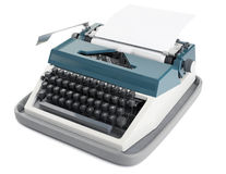 Typewriter with paper Royalty Free Stock Images