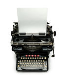 Typewriter with paper sheet isolated Stock Photos