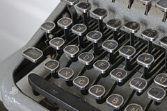 Typewriter - Qwerty Black Keys Royalty Free Stock Photo