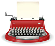 Typewriter. Red typewriter in simple design Royalty Free Stock Images