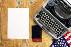 Typewriter retro desktop Royalty Free Stock Images