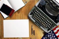 Typewriter retro desktop Royalty Free Stock Photos