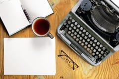 Typewriter retro desktop Stock Images
