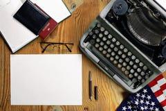 Typewriter retro desktop Royalty Free Stock Photo