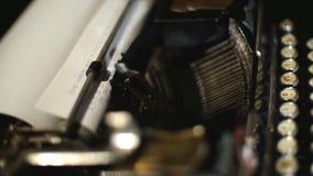 Typewriter retro print stock video