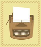 Typewriter in retro style Royalty Free Stock Photo