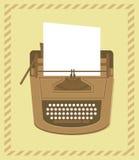 Typewriter in retro style. Retro card Royalty Free Stock Photo