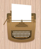Typewriter in retro style Royalty Free Stock Photography