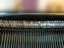 Typewriter's letters Stock Photos