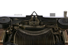 Typewriter With Search Box Royalty Free Stock Photo