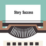 Typewriter with share your story success text Stock Photos