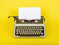 Typewriter with sheet of paper Stock Photos