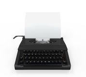 Typewriter with Sheet of Paper Royalty Free Stock Photos