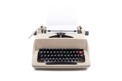Typewriter with a sheet of white paper Stock Photos