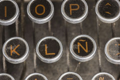 Typewriter Spanish Keyboard Stock Image