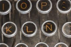 Typewriter Spanish Keyboard Stock Image