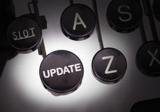 Typewriter with special buttons Royalty Free Stock Images