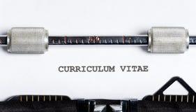 Typewriter text stock photography