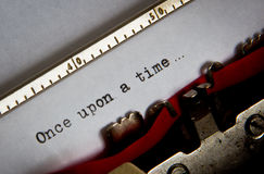 Typewriter text. Text written with an old typewriter Royalty Free Stock Images