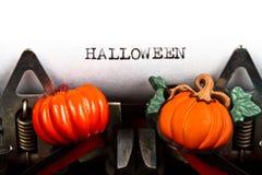 Typewriter with text halloween. Old typewriter with text halloween vector illustration