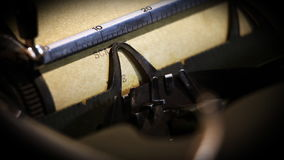 Typewriter and text: Scandal. Close up of a typewriter and text: Scandal stock footage