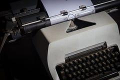 Typewriter Thai in the dark room Royalty Free Stock Image