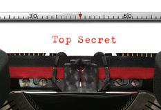 Typewriter Top Secret Royalty Free Stock Image