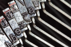 Typewriter type bars, macro shot Stock Photography