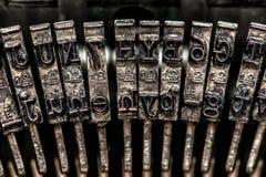 Typewriter typebars Stock Images