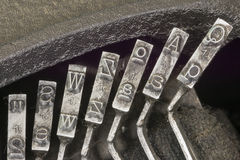 Typewriter Typebars Stock Photos