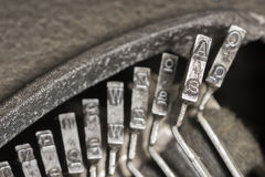 Typewriter Typebars A Royalty Free Stock Image