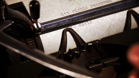 Typewriter with typed text: All rights reserved stock video footage