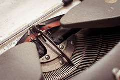 Typewriter types I Love You Stock Image
