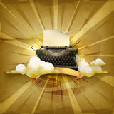 Typewriter, vector background Stock Photos