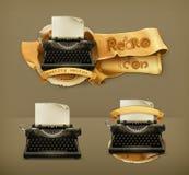 Typewriter, vector icons Stock Image