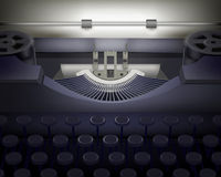 Typewriter.  Vector illustration. Stock Photo