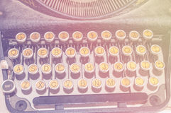 Typewriter on vintage effect Royalty Free Stock Photography