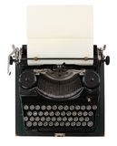 Typewriter. Vintage typewriter isolated on white background Royalty Free Stock Photography