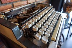 Typewriter. Vintage typewriter old collection home decoration royalty free stock images